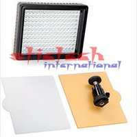 Wholesale 50 pieces W160 LED Video Light Lamp W LM K K Dimmable for DSLR Camera Video light