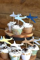 airplane wedding cakes - cheap Airplane Cupcake Toppers Birthday wedding Cupcake Topper boy birthday cupcake toppers