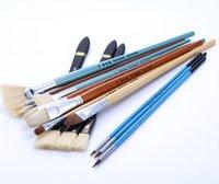 Wholesale Hot sale a set of pens bristle wool brush propylene kinds of models of watercolors oil paints special brush painting art suits