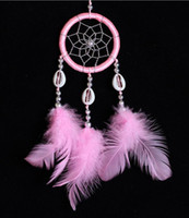 Wholesale White Dreamcatcher Wind Chimes Indian Style Feather Pendant Dream Catcher Gift Dream catch wind chimes