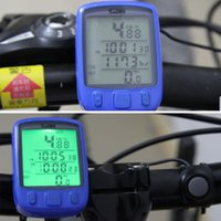 Wholesale 2016 Waterproof Multifunction Cycling Computer Bicycle Speedometer Odometer LCD Backlight Backlit Bike Computer freeshipping