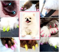 Wholesale 20Pcs Fashion Soft Rubber Pet Dog Cat Kitten Paw Claw Control Nail Caps Cover