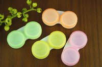 Wholesale 5000 High Quality Contact Lens Case Transparent Contact Lenses Cases Candy Color Dual Box Double Boxes Eye Care Kit Storage Holder
