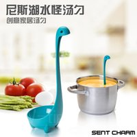 Wholesale 2016 new fahion Nessie spoon cute creative long handle hanging Nessie ladle character Home Furnishing soup spoon