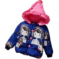 Wholesale Baby Girls Jacket Coats new Brand Cartoon doll Kids Winter Outerwear Hooded Baby Girls Coat Y and color