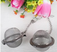 Wholesale Sphere Tea Filter - Mesh Stainless Steel Tea Infuser Ball Strainers Tea Pot Good Quality Household Sphere Spice Home Filter Infusor Tools Best Price
