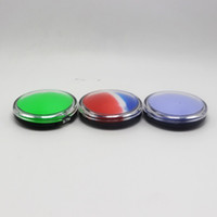 Wholesale 10pcs ml Mirror Cosmetic Jar Non stick Silicone Storage Container Jar For Wax Silicone Oil Container Bho Container