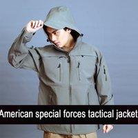 Wholesale Hunting Men s Jackets Coat Male Military Jacket Waterproof Windbreaker Raincoat Clothes Army Jacket Men Outdoor Overcoat