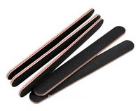 beauty nails center - NEW Standard Black Nail Files Grit White Center Beauty Salon Nail Care Tool Sandpaper