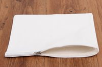 Wholesale white pure canvas cosmetic Bags DIY blank plain zipper makeup bag phone clutch organizer bags Gift travel cases pencil pouches for handmade