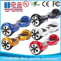 skateboard wheels - USA Stock Speaker Hoverboard Electric Scooter inch Tyre Two Wheels Smart Balance Drifting Board Self Balancing Skateboard