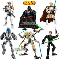 Wholesale NEW KSZ Star Wars Minifigures Darth Vader White Storm Trooper General Grievous Figure toys building blocks compatible legoelieds