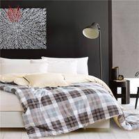 Wholesale Pastoral stripe plaid print pure cotton duvet cover comforter cover housse de couette dekbedovertrek funda nordica SP3377