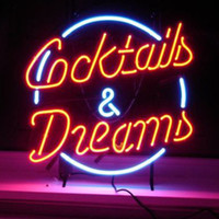 bar lights and signs - MARGARITAVILLE Palm Tree Handcraft Real Glass Beer Bar quot x14 quot Cocktails And Dreams Real Glass Neon Light Sign Beer Bar Light Sign FREE SHIP