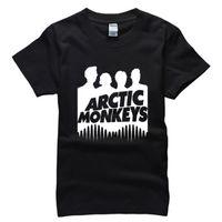 arctic monkeys clothing - Arctic Monkeys Men T Shirt Fashion Rock Music Adults Hip Hop Cotton Man Shirts Plus Size Brand Clothing Tees Camisa AMD255