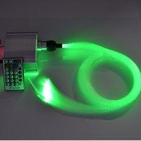 Wholesale Diy Kit Twinkle Fiber Optic lighting kits W RGBW LED mm m long Fiber cable ceiling optic fiber lights
