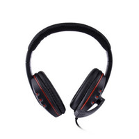 Wholesale 2016 hot sale Luxury Stylish Headphones w Microphone for PS3 PS3 Slim PS3 CECH4000 Black Red