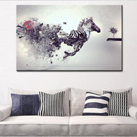 abstract painting ideas - DP ARTISAN abstract horse wall picture creative oil painting print canvas top idea decor wall art for wall painting no framed