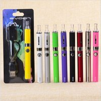 battery charger starter - EGO EVOD Starter Kit Blister pack USB charger EVOD Battery mAh mAh mAh MT3 Clearomizer ecigs electronic cigarette Assorted Color