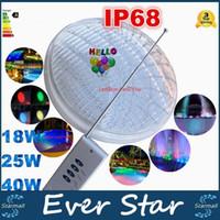 Wholesale RGB Led Pool Light Bulb AC V Underwater Lights Fountains Led W W W Waterproof IP68 Led Pool Light Remote Control