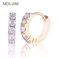 antique copper hoop earrings - MOLIAM Vintage Antique Earing for Women High Quality White Crystal Zirconia Hie Hoop Earrings Jewelry Brand E130