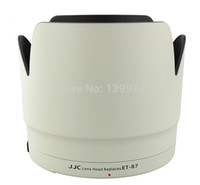 Wholesale JJC LH W White Lens Hood Shade For Canon mm f L IS II USM Telephoto Zoom Lens replaces CANON ET