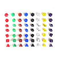 Wholesale 7pcs Set Resin Polyhedral TRPG Games For Dungeons Dragons Opaque D4 D20 Multi Sides Dice Pop for Game Gaming New Arrival