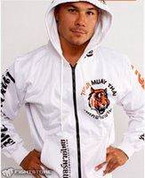 Wholesale Men s Muay Thai Fighting Zipper Hoodie Jacket mma jersey mma jacket boxing jacket MMA Hoodie Suit Hombre