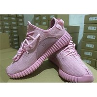 Cheap (With Original Box) Kanye Milan West Yeezy 350 Boost Pink Running Shoes Men Fashion Shoes Women Sport Trainers Shoes