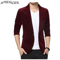 Wholesale Men New Casual Fashion Suit Jacket Blazers Mens Style Blazer Brand Clothing Veste Homme Costume Terno Masculino Completo