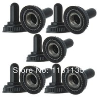 Wholesale 10pcs Mini Toggle Switch Waterproof Rubber Resistance Cover Cap Boot Black