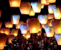 Wholesale White Paper Chinese Lanterns Fire Sky Fly Candle Lamp for Birthday Wish Party Wedding Decoration Flying Paper Sky Lanterns