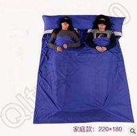 Wholesale 210 cm Polyester Pongee Sleeping Bag Liner Travel Sheet Sleep Sack Friendly Swede Travel And Camping Sheet Sleeping Bag CCA4657