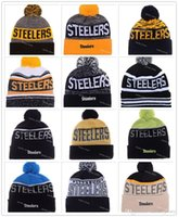 animal pittsburgh steelers - Heather Gray Football Pittsburgh Beanies Winter High Quality Steelers Red Beanie For Men Skull Caps Skullies Knit Cotton Hats On Field