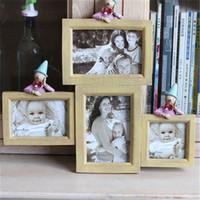 al por mayor marco de fotos múltiples-2016 Nueva Multi-Frame regalos del favor de la resina Baby Picture Frames Decoración Marcos de la foto de boda nupcial de la ducha