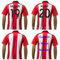 Atléticos camisas Bilbao Camisetas de fútbol 19 MUNIAIN 20 ADURIZ Jersey del equipo de fútbol en color rojo / blanco a medida la calidad de Tailandia