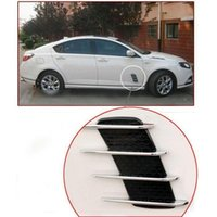Wholesale Chrome Silver Exterior Decorative Side Air Intake Vent Air Flow Grille For Benz new arrival
