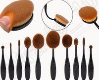 Wholesale KKA153 set toothbrush Cosmetic Makeup Brushes Set Foundation kit Beauty Brush Tool Makeup Cosmetic Oval Cream Puff Brushes sets
