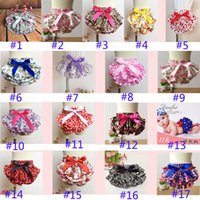 Wholesale 49style Baby Underwear Ruffled Bloomer PP Pants Kids Girls Skirt Diaper Photography Pantskirt Todder Children Floral pant
