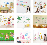 arts cartoon - Mix Order Removable Wall Stickers Home Decals Kids Room Wall Stickers Nursery Wall Decor x70cm Wall Art Sticker