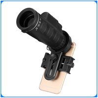 Wholesale Factory Direct Universal x40 Hiking Concert Camera Lens Zoom Phone Telescope Camera Lens Phone Holder For Smartphone DHL