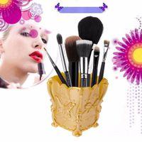 Wholesale Fashion New Design pc colors Acrylic Makeup Cosmetic Storage Box Case Holder Brush Pen Organizer Decorative