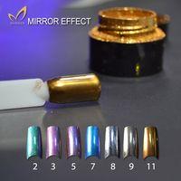 aluminium pigments - New Arrival g bottle Mirror Nail Glitter Powder Colors Gold Silver Pigment Ultrafine Powder Aluminium Nail Art Sequins