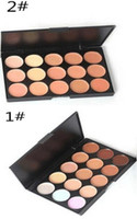Wholesale Professional Colors Concealer Foundation Contour Face Cream Makeup Palette Pro Tool for Salon Party Wedding Daily DHL free