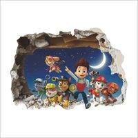 art marshall - 3d Ryder Marshall Rubble Cute Cartoon Wall Sticker decals children Vinyl Art Decals Kids Room Decor