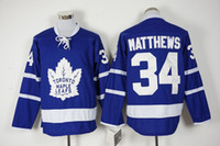 Wholesale 2016 Auston Matthews Jersey Ice Hockey Jersey Best quality Embroidery name and logos Size M XXXL Accpet Mix Order