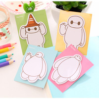 Wholesale Cute Big hero Baymax Scratchpad mini Memo Bookmark Notepad sticky notes Removable Adhesive Paper message Notes colors BY DHL