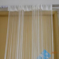 Wholesale White String Curtain For Room Doors Windows Fringer Dividers Panel Fly Screen on Promotion