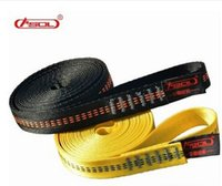 Wholesale Brand ASOL Polyester Climbing Sling Bearing Strap Outdoor Rope Protector Yellow Black KN