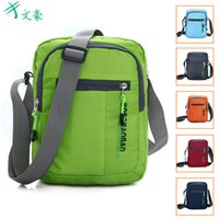 Wholesale Messenger bags for womens Bags Korean Style Unisex Women Shoulder Bags Nylon Outdoor Sports Bags Duffel Bag Black Blue Free DHL
